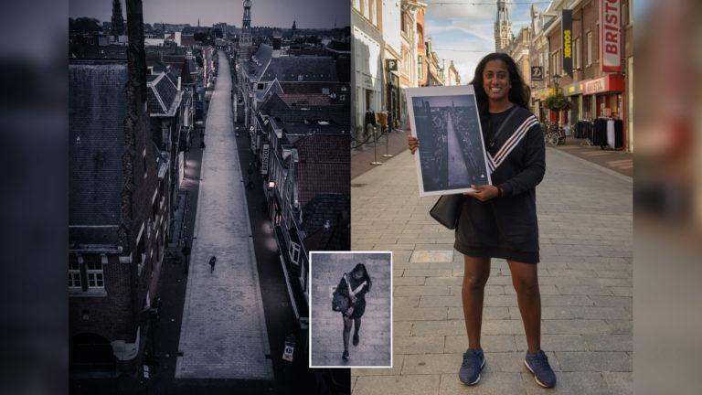 Vrouw ontdekt zichzelf op foto-expositie en ontmoet fotograaf